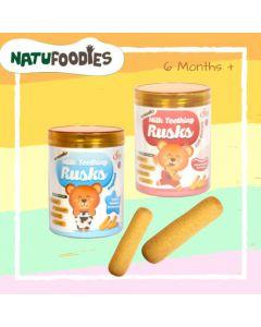 Natufoodies Milk Teething Rusks (14g x6)