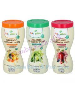 (Combo Pack of 3) Baby Natura Organic Riceberry puffs (40g)