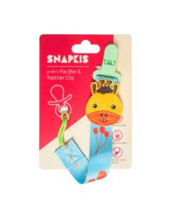SNAPKIS 2-IN-1 PACIFIER & TEETHER CLIP