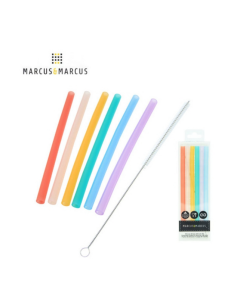Marcus & Marcus Silicone Straws & Brush Set (3+Months)