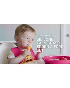 Marcus & Marcus Silicone Palm Grasp Spoon & Fork Set (12Months+)