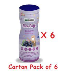 (Carton Pack of 6) Natufoodies Rice Puff
