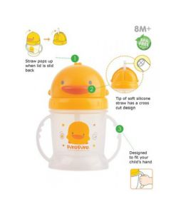PiyoPiyo STYLISH TRAINING CUP W/SLIDING LID 250ML (830350)