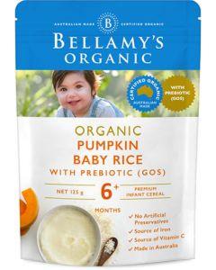 Bellamy's Pumpkin Baby Rice with Prebiotic 125g