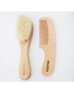 SNAPKIS BABY WOODEN BRUSH & COMB SET SKS-SKS 11013
